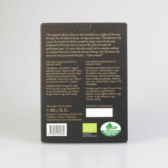 naive equator collection tahini organic milk chocolate 47